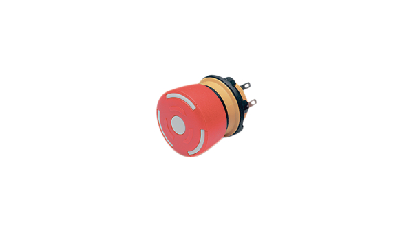 Buy Emergency-stop switch 1NC + 1NO Round Button Plug Connection