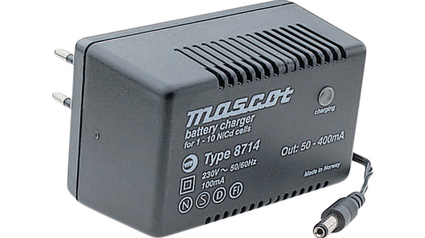 MASCOT TYPE 8714 BATTERY CHARGER FOR 1-10 NICD CELLS 230VAC 53-60Hz 100mA